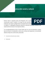El currículo construcción social y cultural