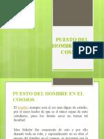 12. PUESTO DEL HOMBRE EN EL COSMOS