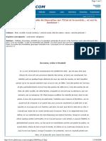 Corrigés Bac 2004  Série ES _Texte de Descartes sur l'Etat et la société... et sur le bonheur (1)