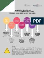 CALENDARIO ACADÉMICO FCS 2030