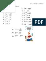 laboratorio de  ecuaciones exponenciales y introduccion a los logaritmos