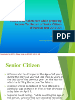 INCOME TAX RETURN FOR SENIOR CITYZEN