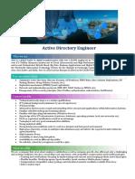 Job Description - Active Directory Engineer