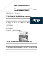 FICHA DE COMPRENSIÓN LECTORA