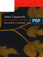 Zagajewski Adam - En Defensa Del Fervor