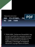 Ang  Pilipinas,  Pagkaraan  Ng  100  Taon