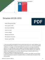 SUSESO_ Normativa y jurisprudencia - Dictamen 40326-2010