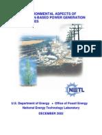 NETL - Environmental aspects of gasifcation-based power generation (2002)