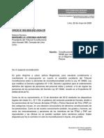 OFICIO 063 Tribunal Constitucional Regimen de pensiones militar policial 2
