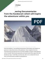 6 Mountaineering Documentaries from the Karakoram