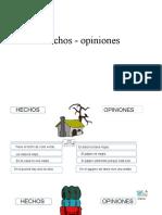 Hechos - opiniones