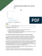 24 Procedimientos para Auditar la Cuenta de Inventarios
