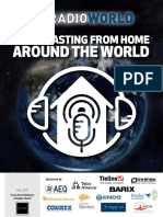 Broadcasting from home around the world 2020
