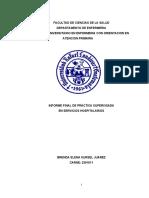 PARA REVISION INFORME DE PRACTICA HOSPITALARIA BRENDA KURSEL JUAREZ