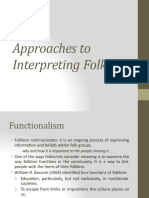 approaches to interpreting folklore