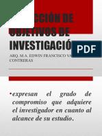 COMO REDACTAR OBJETIVOS DE INVESTIGACION (1)