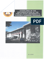 Guidelines in the Implementation of the TSU's Flexible Learning Program
