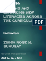 Building and Enhancing New Literacies Across the Curriculum
