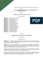 Ley 26571 -  LEY DE DEMOCRATIZACION DE LA REPRESENTACION POLITICA, LA TRANSPARENCIA Y LA EQUIDAD ELECTORAL - ARGENTINA