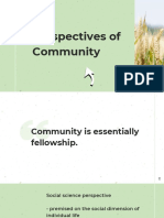 Perspectives of Community
