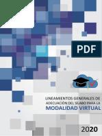 Lineamientos generales de adecuación del sílabo para la modalidad virtual