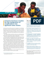 2015 - FAO Sample Policy Brief - Inclusive business models Key messages 1 for the integration of smallholders into agrifood value chains.pdf