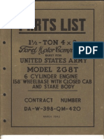 2G8T 1942 - US Army - Ford Parts List