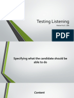 Testing Listening