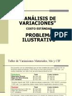 Análisis de Variaciones - Problema Ilustrativo