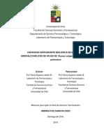 Capacidad Antioxidante Biologica de Extractos Hidroalcoholicos