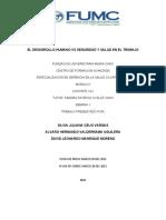TALLE 1 ENSAYO INFORME DESARROLLO HUMANO  2013 vs SALUD Y SEGURIDAD EN EL TRABAJO