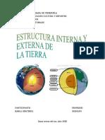 ESTRUCTURA INTERNA Y EXTERNA DE LA TIERRA