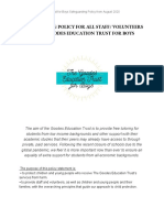 safeguarding policy for all staff  volunteers of the goodes education trust for boys