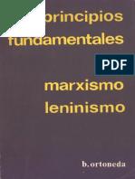 Principios Fundamentales Del Marxismo-Leninismo