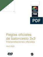 REGLAMENTO BASQUETBOL 3X3 2020