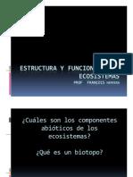Clase 3 ESTRUCTURA Y FUNCION ECOSISTEMAS