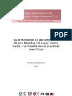 Quesada (2006). De una filosofía del experimento hacia una filosofía de las prácticas científicas.pdf