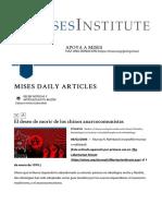 El deseo de morir de los chinos anarcocomunistas | Instituto Mises