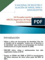 EXPERIENCIA ECUATORIANA EN EL PROGRAMA DE CEDULACIÓN E