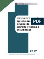 INSTRUCTIVO PARA APLIC LA PREUBA CON ESTUDIANTES