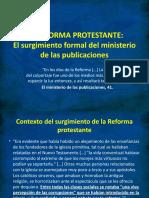 2. La Reforma protestante - El surgimiento formal del ministerio de las publicaciones.pptx