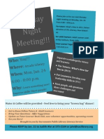 January 2011 Flyer Monday Night Meeting