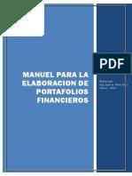 Manual Para Elaboracion de Portafolios Financieros