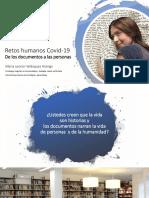 1.Retos humanos Covid-19 De los documentos a las personas