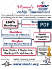 Staten Island USBC Women's Championship Tournament Application Bundle