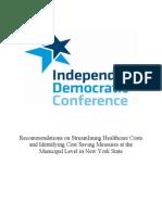 IDC Mandate Relief Report 1.19.11