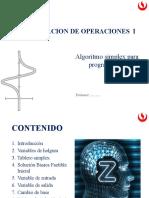 Unidad 1 - 1- Algoritmo Simplex para Programas lineales