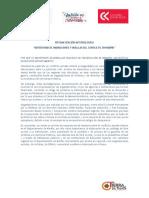 SISTEMATIZACIÓN METODOLICA REPERTORIO DE NARRACIONES Y HUELLAS DEL CONFLICTO EN NARIÑO