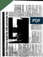 Sobre declaración jurada de chofer de Farinacci