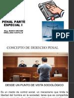DERECHO PENAL PARTE ESPECIAL I (Semana uno)